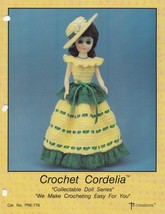 Cordelia, Td Creations Crochet Fashion Doll Clothes Pattern Booklet PRE-778 - $4.95