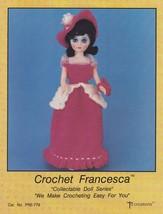 Francesca, Td Creations Crochet Fashion Doll Clothes Pattern Booklet PRE... - $5.95