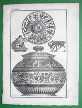 1814 Copperplate Print - Greek Antiquities Pain... - $17.82