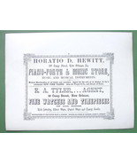 1853 AD Hewitt Piano Forte New Orleans LA & BAR... - $13.86