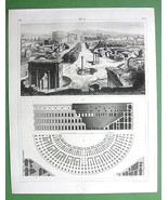 ARCHITECTURE Buildings on Forum Romanum Colosse... - $33.66