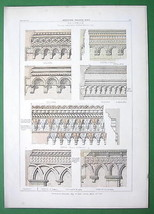 ARCHITECTURE COLOR PRINT : Italy Brickwork Palaces at Padua Verona Bologna - $21.78