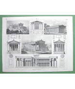 ARCHITECTURE Greek Temples Acropolis of Athens ... - $33.66