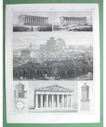 ARCHITECTURE Greece Temples Acropolis of Athens... - $33.66