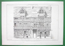 ARCHITECTURE PRINT : Half-timber house at Lisieux (France) - $17.82