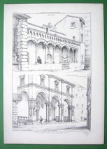 ARCHITECTURE PRINT : Italy Arcades at Monte at ... - $23.76