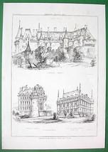 ARCHITECTURE PRINT : Renaissance Castles France... - $13.86