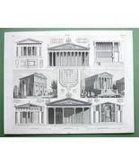 ARCHITECTURE Roman Temples Syracuse Paestum Oly... - $33.66