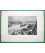 CANADA Falls on St. John's River - 1841 Engraving Print by BARTLETT - $13.86