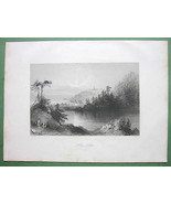 CANADA Lily Lake St. John's - 1841 Engraving Print by BARTLETT - $13.86