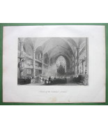 CANADA Montreal Interior of Cathedral - 1841 En... - $13.86