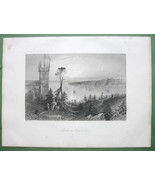 CANADA Church at Point Levi - 1841 Engraving Pr... - $17.82