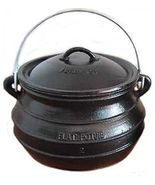 Cast iron Dutch oven #3 Flat bottom Bean pot Campfire Cookware Survival - $120.00
