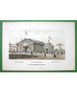 PHILADELPHIA Exhibition France French Building - 1876 Original Lithograp... - $13.86