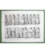 PERSIA & Assyria Natives People Costume Fashion - 1870 Original Engraving - $13.86