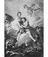 NUDE Abduction of Cephalus by Aurora !! Antique... - $23.76