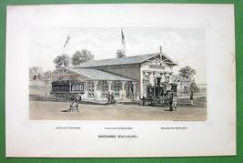 PHILADELPHIA Exhibition Maryland Building - 1876 Original Lithograph Print - $13.86