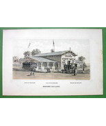 PHILADELPHIA Exhibition Maryland Building - 1876 Original Lithograph Print - $13.86