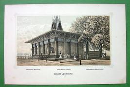 PHILADELPHIA Exhibition Canada Log House - 1876... - $13.86