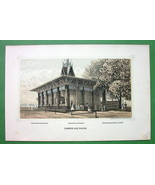PHILADELPHIA Exhibition Canada Log House - 1876 Original Lithograph Print - $13.86