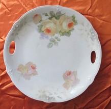 Antique Porcelain Serving Dish With Handles Signed MV Company - $8.99