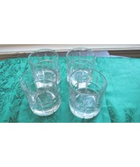 Set of 4 Anchor Hocking Tartan Manchester Clear Glass 8 oz Glasses - $14.99
