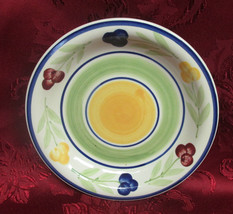 "Salad Dessert Plate 7 3/8"" Wide By 1"" Deep Fruit Design by Gibson - $4.99"