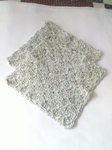 Crochet Hand-made 100% Cotton Dish Cloths Set of 2, Green Varigated - €4,50 EUR