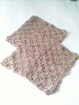 Crochet Hand-made 100% Cotton Dish Cloths Set of 2, Rust - $4.99