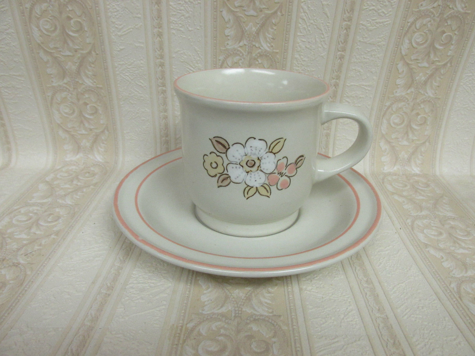 Hearthside Chantilly Fleur De Bois Teacup & Saucer Set-Set of 6