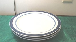 "3 Dinner Plates 10"" Mainstays Home White Cobalt... - $19.99"