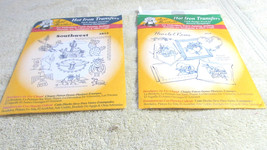 Hot Iron transfers - Aunt Martha's Set Of Two - Vintage - $4.99