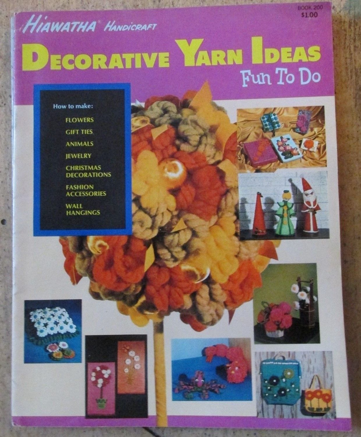 Mixed Lot Vintage Yarn ,Crafts Books Lot of 6