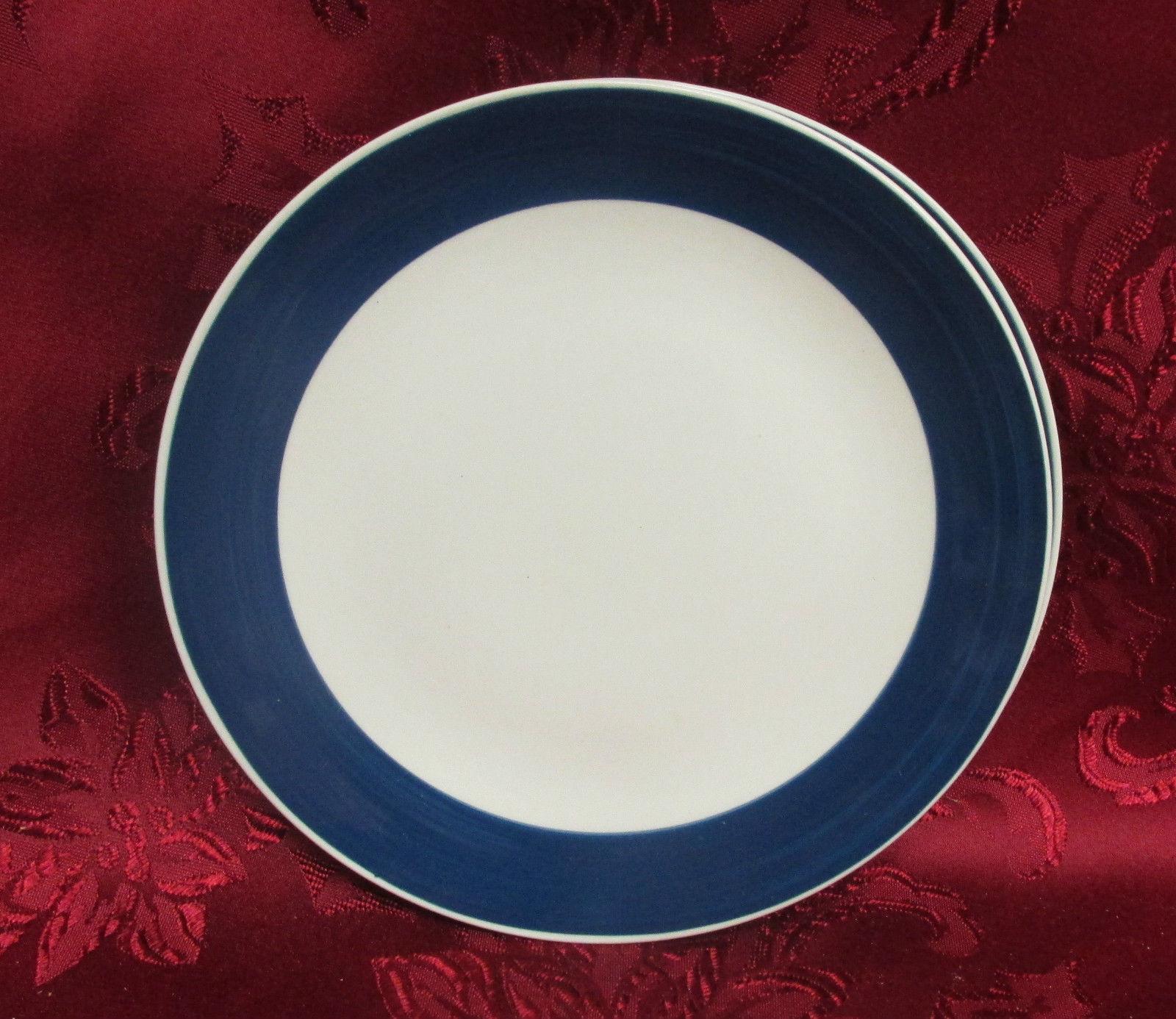 Gibson Designs Cobalt Blue Salad Dessert Plate X 2 - $9.99