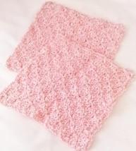 Crochet Hand-made 100% Cotton Dish Cloths Set of 2, Pink - $4.99