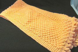 Handmade Knitted Scarf Popcorn Scarf - Peach Colored - $19.99