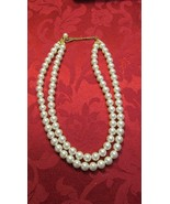Vintage Napier Two Strand Faux Pearl Necklace - $5.99