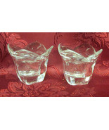 Beautiful 24% Full Lead Crystal Votive Candle Holders X 2 - $8.99