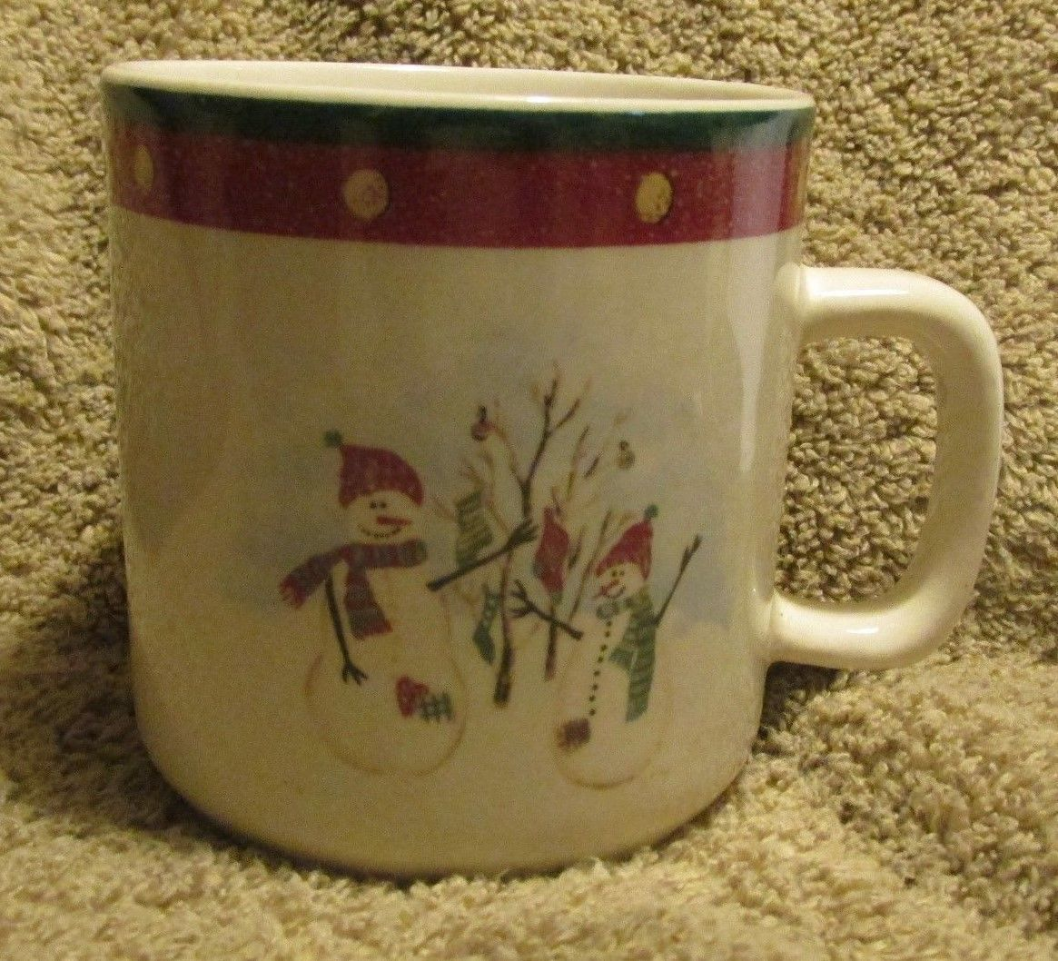 "Primary image for Royal Seasons Stoneware Snowmen RN2 Mug~3 1/4"" Tall"