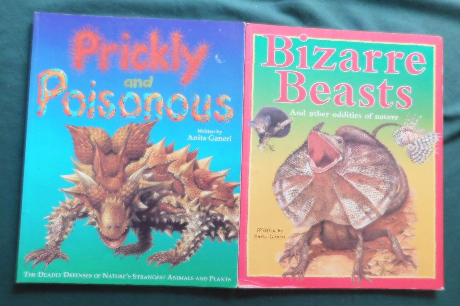 Primary image for 2 Lot Bizarre Beasts And Prickly & Poisonous By Anita Ganeri