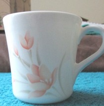 Vintage Corningware Coffee Cup Tea Cup Retired Peach Floral Pattern - $4.99