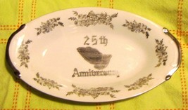 Norcrest Fine China B-480 25TH Anniversary Serving Dish Vintage - $9.99