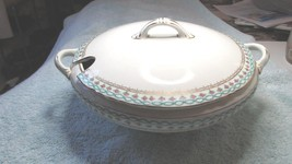 Vtg Covered Soup Tureen Serving Dish Vegetable Casserole Edwin Knowles V... - $34.99