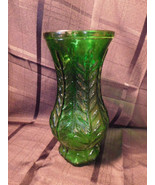 FTD 1980 Green Leaves Glass Vase - $8.99