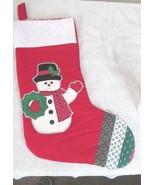 Handmade Christmas Stocking With Snowman - $9.99