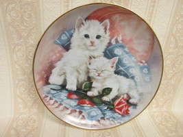 "Franklin Mint 1992 "" Purrfectly Precious "" Cat Plate by: Brian Walsh - $6.99"