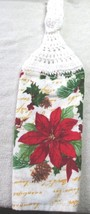 Crochet Top Kitchen Towel -  Single - Poinsetta - $3.99