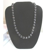 Vintage Trifari Black Bead Necklace WIth Bold Beads - $5.99