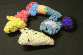 5 Catnip Crocheted Cat Toys Cats Love these! - $4.99