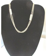 Sarah Coventry Vintage Cream and Brown Bead Chain Necklace - $5.99